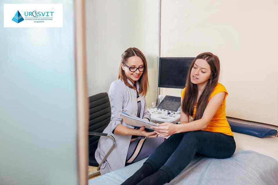 Процедура УЗД скринінгу вагітності.